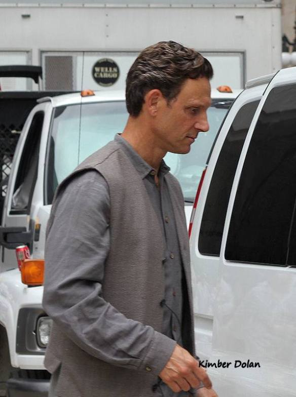Tony Goldwyn on set as Andrew Prior