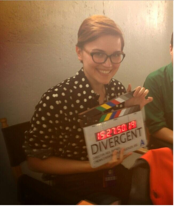 Veronica Roth on the Set of 'Divergent'